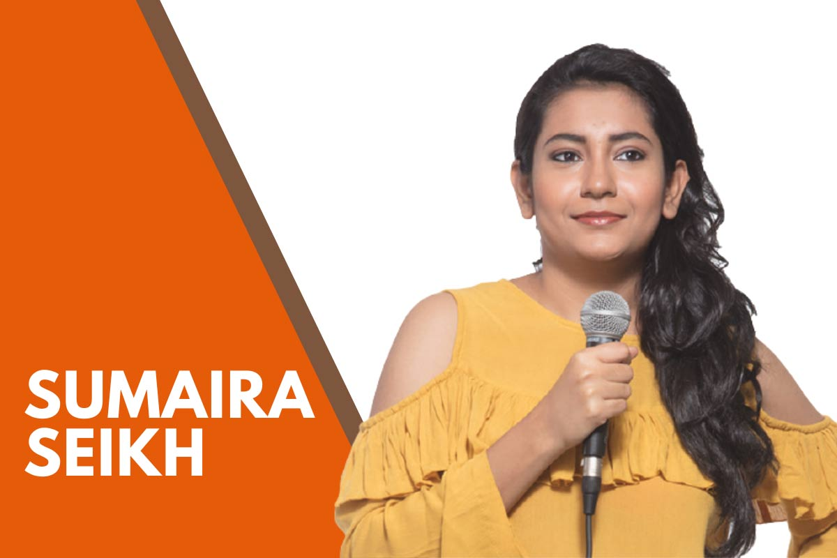 indian female stand up comedians Sumaira Shaikh