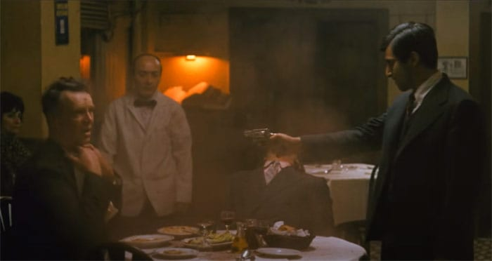 Most referenced movie scenes The-Godfather